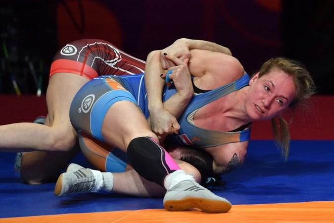 Jessica Blaszka grijpt naast medaille op EK worstelen