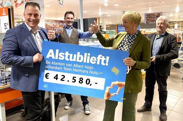 Statiegeldactie Albert Heijn levert 42.580 euro op voor Toon Hermans Huis