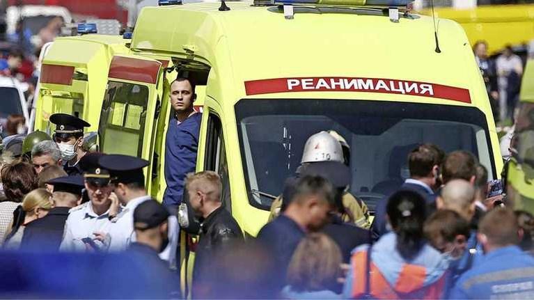 Zeker 9 personen gedood bij schietpartij Russische school, tientallen gewonden