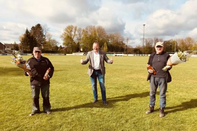 Sportclub'25 uit Bocholtz huldigt verenigingstoppers Jan Deguelle en Serv Pelzer