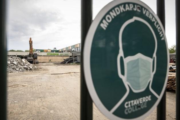Citaverde College in Roermond: deels tegen de vlakte om plek te maken voor nieuwbouw