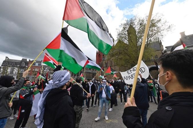 Steunbetuiging aan Palestina op Vrijthof in Maastricht