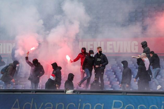 Feyenoord-supporters dringen met vuurwerk De Kuip binnen