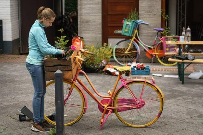 Leerlingen pimpen oude fietsen voor fleurige kunstroute in hartje Sittard en Geleen