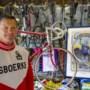 John Willemsen uit Landgraaf idolaat van oude racefietsen; Shirt TWC Bleijerheide pareltje in collectie