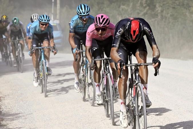 Egan Bernal grote winnaar na spectaculaire gravelrit in Giro; Zwitser Schmid pakt dagzege