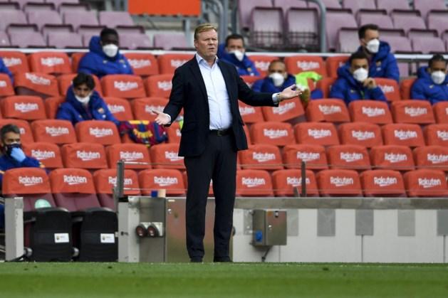 Koeman voelt zich niet gesteund door clubleiding FC Barcelona