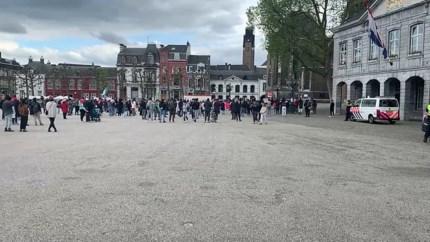 Video: Opnieuw rustige demonstratie voor Palestina in Maastricht