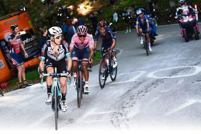 Colombiaan verliest voor het eerst tijd: houdt de rug van Bernal het in de Giro?