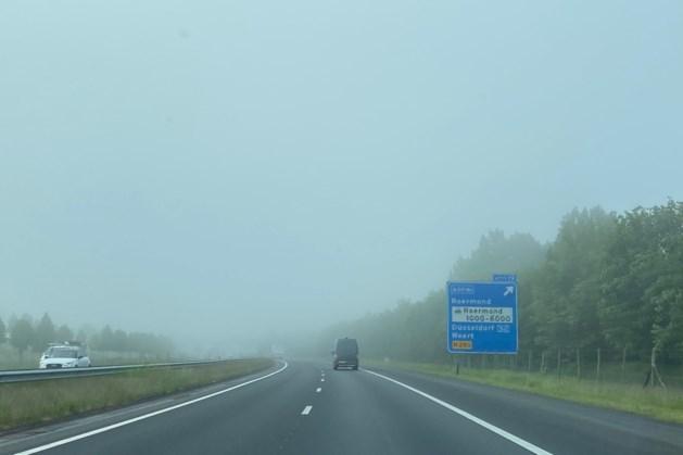 Code geel voor dichte mist in Limburg