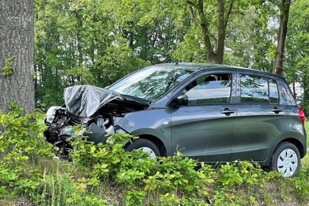 Auto botst tegen boom in Sint Joost: één gewonde