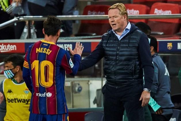 FC Barcelona-trainer Koeman stuurt Messi al met vakantie