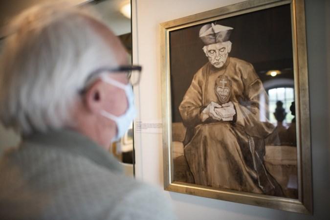 Pater Karel in één kunstwerk gevangen met kritische 'Tante Astrid' die haar kaars pas betaalde als ze resultaat zag