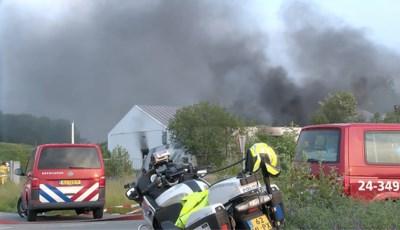 Grote brand in loods Brunssum waar een van de grootste drugsvangsten is gedaan, mogelijk asbest verspreid