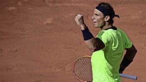 Rafael Nadal voor de 14e keer naar halve finale Roland Garros