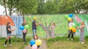 Kindertekeningen beschermen bouwhekken in Sittardse wijk