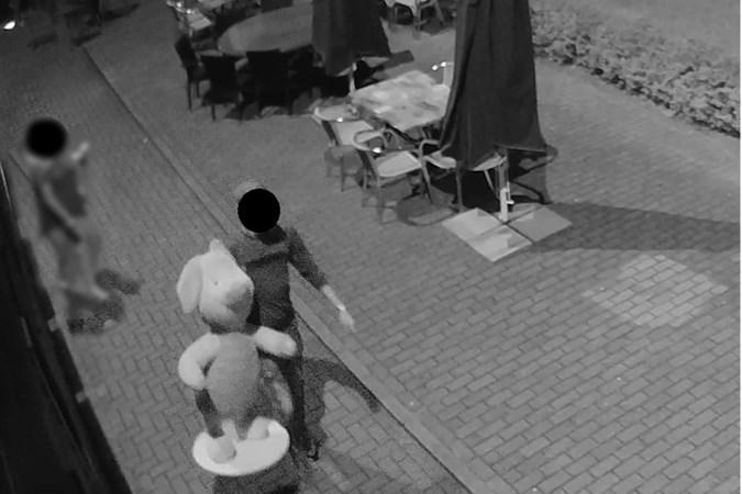 Bewakingscamera's registreren bizarre roof grote Disneypop Knorretje uit bioscoop Sittard