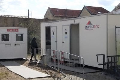 Permanent openbaar toilet bij fietsenstalling op Walramplein in Valkenburg