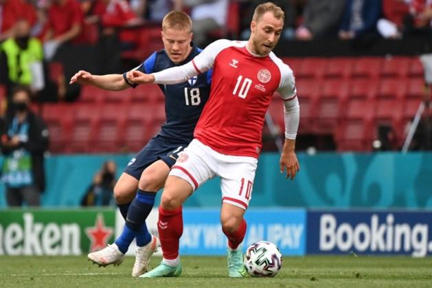Deense stervoetballer Eriksen zakt in elkaar tijdens duel met Finland