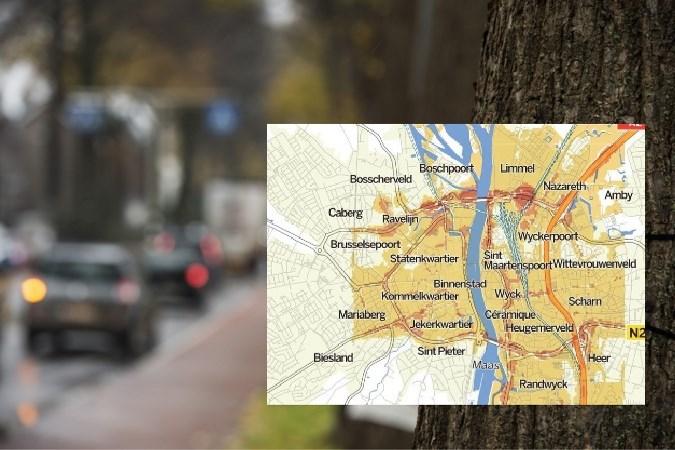 Roetkaart Maastricht kleurt alarmerend geel, dus die milieuzone moet er komen zegt Milieudefensie: 'De bezwaren gelden niet meer'