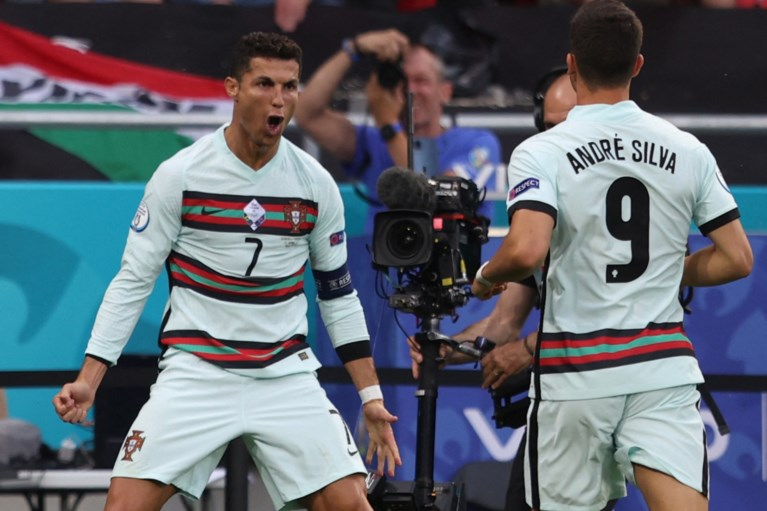 Portugal pas in slotfase langs Hongarije in eerste duel 'Groep des doods', records voor Ronaldo