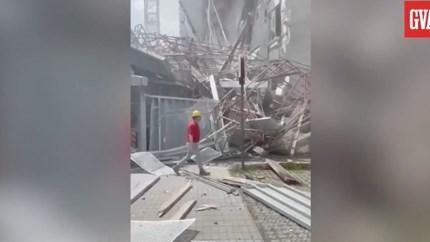 Video: Zeker één dode door instorten steiger Antwerpen, nog vijf mensen vermist