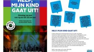 Online bijeenkomst Mondriaan Preventie 'Help mijn kind gaat uit'