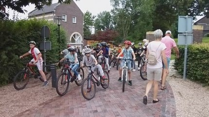 Oefenroute Family Ride voor jonge mountainbikers en familie rond Mechelerhof