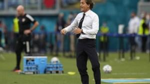 Italiaanse bondscoach Mancini: 'Als ze zo blijven spelen, ben ik een gelukkig mens'
