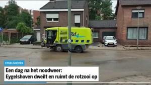 Een dag na het noodweer: Eygelshoven dweilt en ruimt de rotzooi op