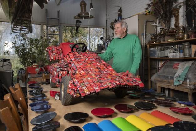 Racewagens van kunstenaar Jack Vreeke uit Weert gaan toch naar Zandvoort