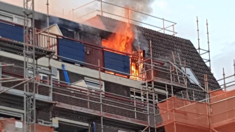 Persoon gewond bij brand in flatwoning Sittard