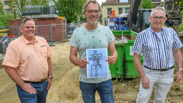 Carnavalsgek Bocholtz krijgt eigen carnavalsstandbeeld: D'r kloon va Bóches