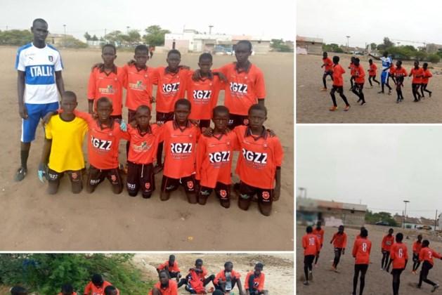 Jeugdteam uit Senegal speelt in het rood en zwart van VV Baarlo