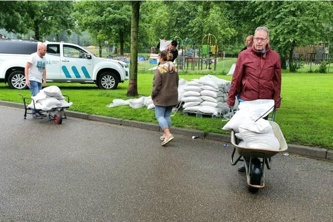 Waterbuffer in Hoensbroek loopt over