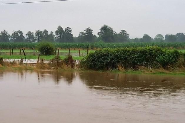 Spoor in Eijsden onder water gelopen, treinverkeer stilgelegd