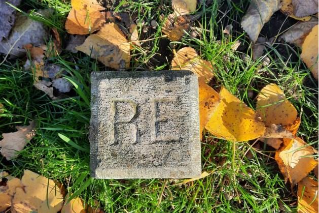 Markante grensstenen met opschrift 'RE' werden geplaatst door Rijkswaterstaat als markering voor beheersgebied