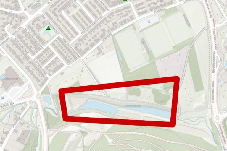 Brandweer waarschuwt voor vloedgolf door overlopende waterbuffer in Hoensbroek