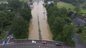 A76 bij Simpelveld dicht wegens water op de weg