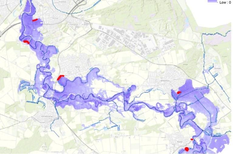Limburg in de ban van hevige regenval