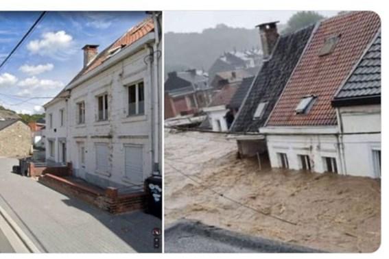 Legerhelikopters moeten inwoners Belgische plaats Pepinster gaan redden, tientallen mensen op daken