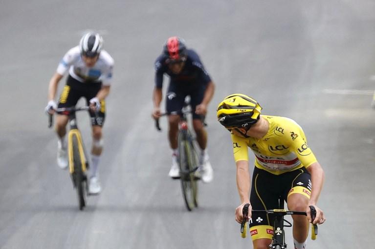 Wout Poels verliest bolletjestrui op laatste klim van de Tour