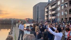 Mark Rutte bezoekt evacués in Roermond