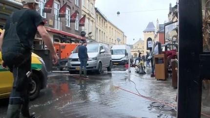 Video: Grote schoonmaak in Valkenburg begonnen: inwoners en toeristen zetten samen de schouders eronder