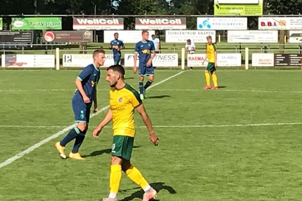 Militant soccer participant Fortuna Sittard performs with two check gamers