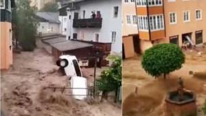Zondvloed treft Oostenrijkse plaats bij Salzburg