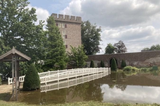 In de feestzaal stond het water kniehoog, maar evengoed was er koffie en vlaai op kasteel Daelenbroeck in Herkenbosch