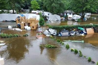 Camping in de Ardennen volledig weggevaagd: 'Er hangen zelfs caravans in de bomen'