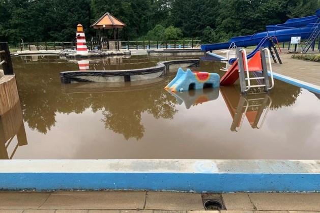 Zwembad Meerssen is veranderd in een modderpoel, helpende handen welkom