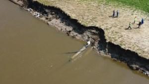 Hoogwater en stromingen leggen ondergrondse pijpleiding bloot: lekkage in Urmond
